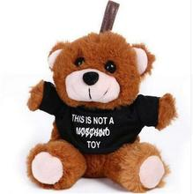 1pc 15cm Lovely Teddy Bear with Clothes Plush Toys Stuffed Cute Moschino Teddy Bear Kawaii Bag Pendant Kids Doll Toys Gift