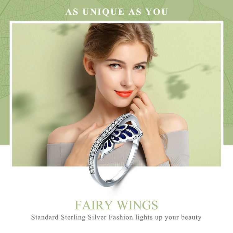 خاتم جناح الفراشة للسيدات فضة S925 1