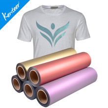 Q1-3 Kenteer Pearl Heat Transfer Vinyl Good Quality For Clothing 0.5*25m One Roll(China)