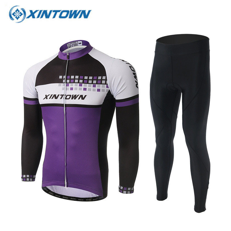 XINTOWN Pro Long Sleeve Cycling Jersey Sets Breathable 3D Padded Sportswear Mountain Bicycle Bike Apparel Cycling Clothing<br><br>Aliexpress