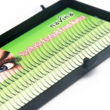 NAVINA Handmade False Eyelashes D Lash W lash Natural Long Black Individual 3D Fake Eyelash Extension Kit  8mm10mm12mm Options