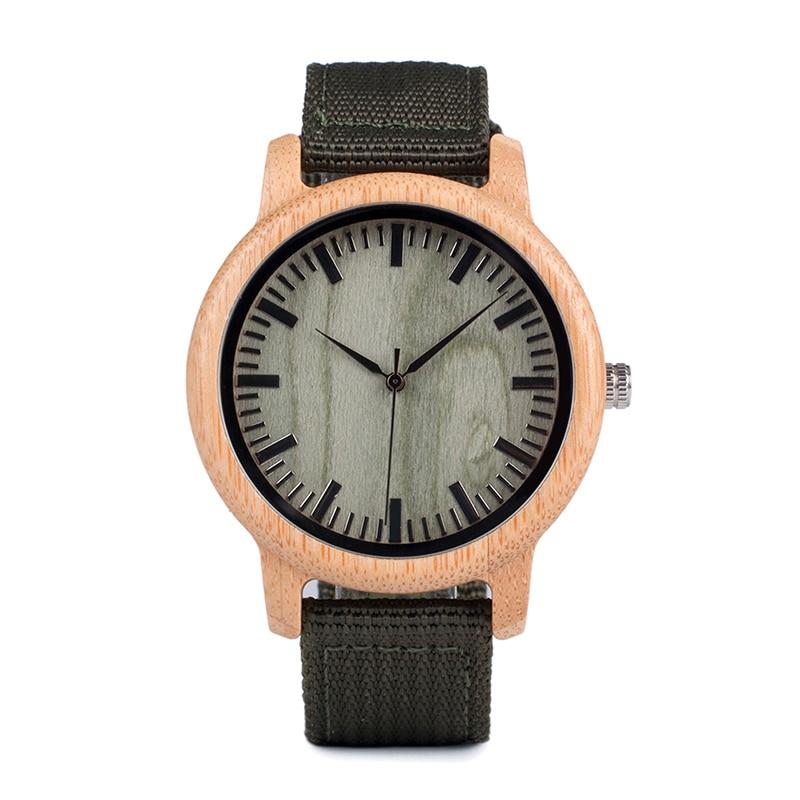 Drewniany zegarek Bobo Bird style Green D11