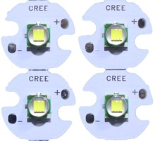 5PCS CREE XML XM-L T6 LED U2 10W WHITE Warm White High Power LED Emitter Diode with 12mm 14mm 16mm 20mm PCB for DIY(China)