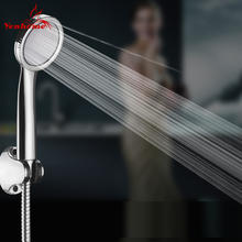 New Water Saving Shower Head 300 Holes High Pressure Super Thin ABS Chrome Plated Bathroom Hand Shower Water Booster Shower Head