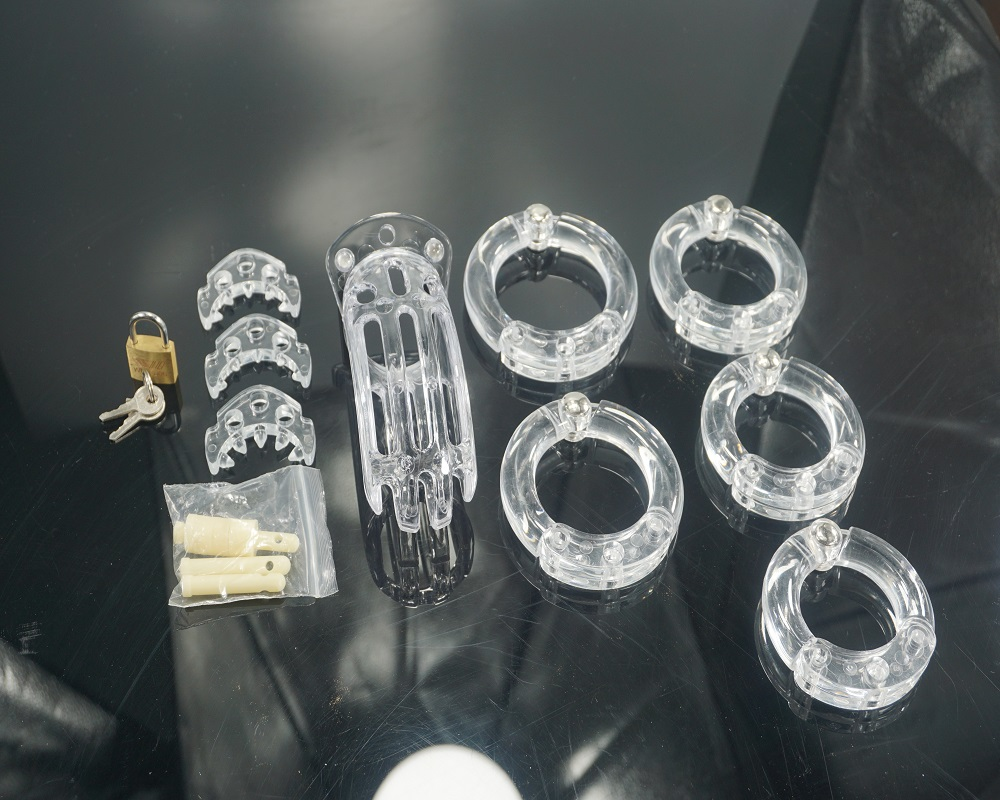 free shipping CB4000 male plastic chastity cage device SM penis ring bondage sex toys for men 2