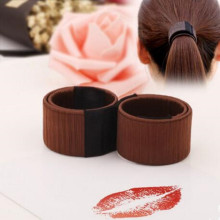 2 Pcs/lot DIY Easy Bun Makers Hair Braiders Elastic Hairband Donuts Chignon Magique Magic Styling Hair Tools(China)