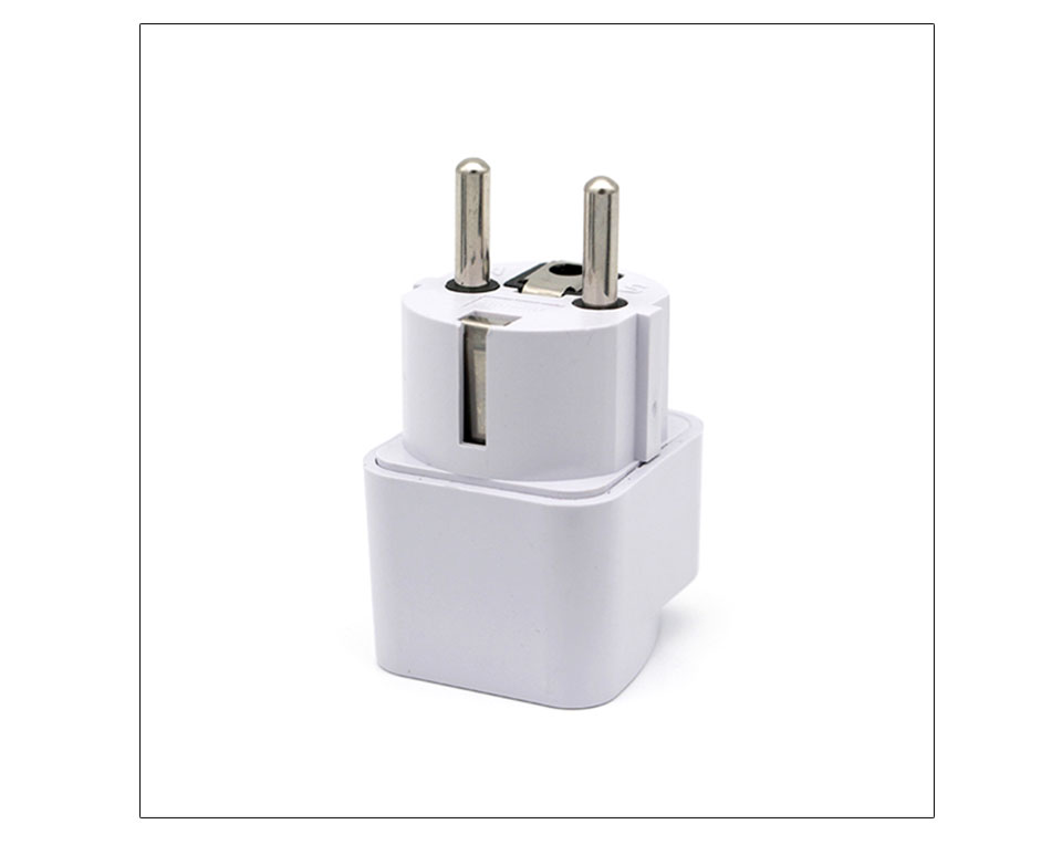 International Travel And Home Universal White Black Adapter Electrical Plug For UK US EU AU to EU European Socket Converter  (11)