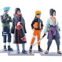 4PCS 12cm Japanese Anime 17 Generation Naruto Action Figures Naruto Sasuke Kakashi Itachi Garage Kits one set With Gift Boxes