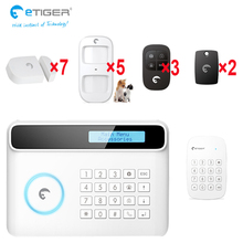 wireless LCD gsm/sms home house security burglar intruder alarm system with outo dialer