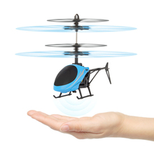 Best Seller Factory Price Mini 2CH Hand Induction Infraed Induction Helicopter Aircraft Flashing Light Toys For Kids Brand New(China)