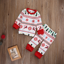 Christmas Trees Deer Design Family Matching Pajamas Sleepwear Nightwear Outfits Sweet Family Matching Outfit Size Baby 70 To 6T