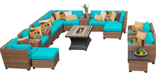 2017 Luxury Furniture Outdoor Wicker 16 Piece Sectional Rattan Sofa Set(China)
