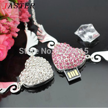 JASTER The angel of love heart shape USB Flash  Drive Crystal pendrive 4GB 8GB 16GB 32GB special gift for Lovers free shipping