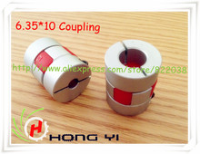 Free shipping for HK post  BF 6.35mm x 10mm CNC Flexible Plum Coupling Shaft Coupler D25 L30