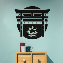 Japanese Gate Wall Sticker Japanese Culture Vintage Adhesive Art Wall Murals Bedroom Home Decoration Accessories(China)