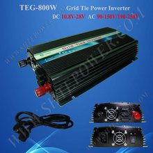 800w Grid Tie Inverter for Solar Panel, Solar Power Invertor, DC 12v/24v to AC 190v~250v(China)