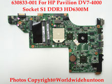 Genuine replacements for HP DV7-4000 Series motherboard 630833-001 DA0LX8MB6E1 Socket S1 DDR3 HD6300 Fully tested(China)