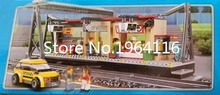 New 02015 city series The Train Station model Building Blocks set Compatible 60050 Classic Town architecture Toys for children
