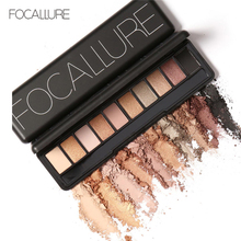 Focallure Ten Colors Eye Shadow Makeup Shimmer Matte Eyeshadow Earth Color Eyeshadow Palette Cosmetic Make Up Nude Pallete