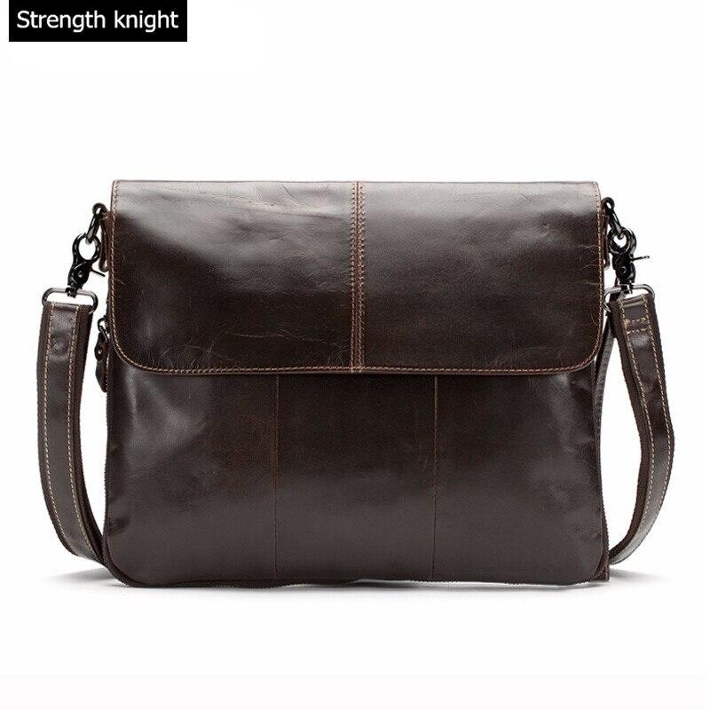 Genuine Leather Fashion Men Bags Men Messenger bags Business Mens travel bag leather crossbody shoulder bag Handbags<br>