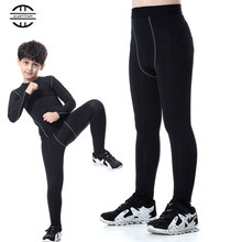 YEL Gym Leggings New Sports Tights Fitness Kids Football Kits 2016/17 Sportswear Basketball Jersey Running Pants Boys And Girls