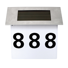 ITimo Solar Lamp Doorplate Billboard Light Apartment House Number Lighting 4LED Illumination Outdoor Lighting Stainless Steel(China)