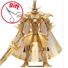 2017 Piececool DIY 3D Puzzle Toy, The Colonel Of Qin Empire 3D Metal Puzzles, Model Soldier Puzzle, Adult Toys, Brinquedos(China)