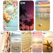 Phone Cases Summer Beach Relax Starfish Shell Sky Sun Cover Coque Ultra Thin Soft TPU for iphone 6 6s 7 7plus 6splus 5 5s se