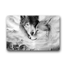Shirley's Door Mats Custom Wolf Love Home Doormats Top Fabric&Rubber Doormat Bathroom Welcome Mats Floor Mat Rug Carpets