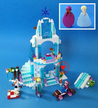 Dream princess Arendelle Castle Building Blocks Princess elsa Anna Olaf Brick toy Friends Compatible with lego kid gift Set()