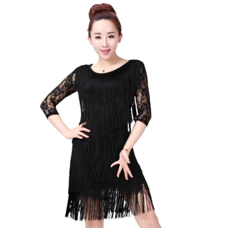 Fringe Latin Dance Tops+Skirt for Girls New Women 4 Color Latin Dance Dress  Costume f70fb3e6157b