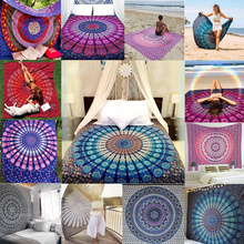 New Indian Mandala Tapestry Hippie Wall Hanging Boho Printed Bedspread Ethnic Beach Throw Towel Yoga Mat Home Decor 210*148cm(China)