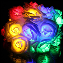 30 PCS Multi Color Rose LED Window Curtain Lights String Lamp House Party Decor Striking Christmas Lamp Home Garden Decor Lights(China)