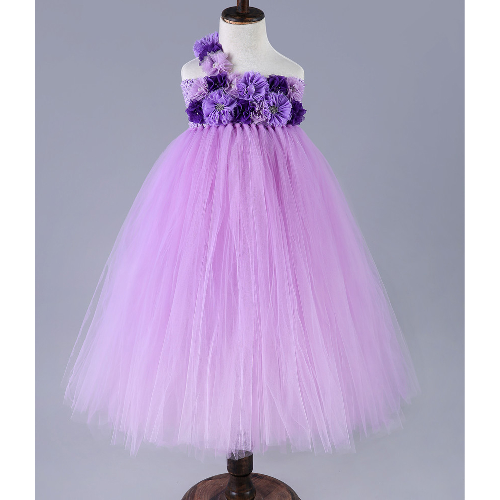 New Girls Kids Summer Lace Tulle Tutu Dress Princess Floral Party Dress Costume Vestidos Children Wedding Gown Ball Events Wear<br>