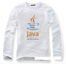 IT male program engineer programming JAVA logo casual long sleeved T shirt autumn spring full sleeve T-shirt(China)