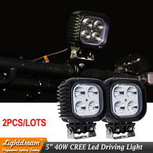2pcs 40W LED WORK LIGHT 5inch 9-32V Spot Flood Beam IP67 Off Road work lamp FOR 4x4 Truck ATV SUV Car Ute Marine External lights(China)