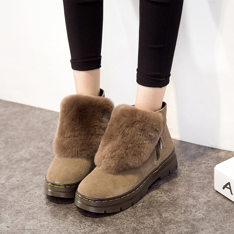 YARITZA 2017 New Fashion Women Ankle Boots Winter Snow Warm Boots High Quality Genuine Leather Boots Women Ankle Shoes Female<br><br>Aliexpress