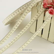 retail mini.order is $5 (mix order) 1.5CM width Zakka cotton ribbons handmade ruler label BOBO DIY accessory free shipping