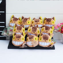 10pcs/lot My Neighbor Totorobus Plush Anime With Ring Soft Stuffed Doll Totoro Ponyo figure KiKis Delivery Toys Free Shipping(China)