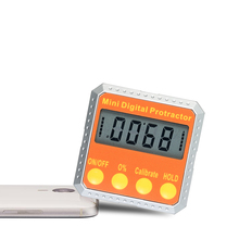 Digital Protractor Mini angle ruler Level / Bevel Gauge / Angle Gauge / Angle Finder angle measuring tool with Embedded Magnets(China)