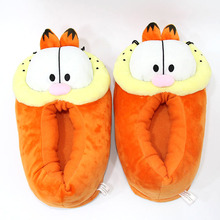 Garfield Cat Plush Winter Indoor Slippers Shoes Slippers Soft Stuffed Animal Doll Toy 28cm