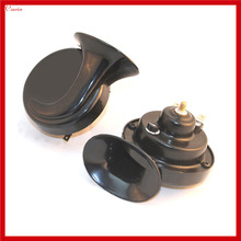 New Pair Waterproof Ultra Loud DC 24v Car Truck Snail Horn Boat Scooter Compact Snail Horn High Low Tone
