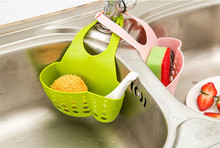 Kitchen Portable Hanging Drain Bag Basket Bath Storage Gadget Tools Sink Holder Drain shelf Kitchen Brush Sponge Sink