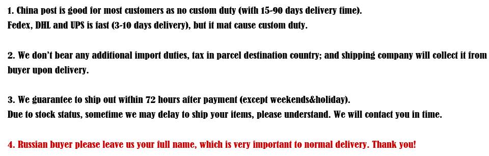 aboout shipment description