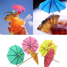 Paper Cocktail Parasols Umbrellas Party Wedding Decoration Supply Luau Drink Stick Holidays Luau Sticks Ornaments 40Pcs