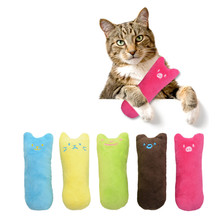 2017 1Pcs Interactive Fancy Catnip Pets Cat Pillow Toy Teeth Grinding Claws Pet Funny Biting Plush Toys 30% OFF(China)