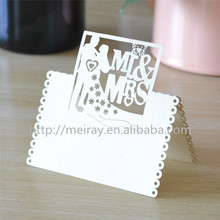 "2014 New products! wedding favors laser cut ""bride and groom""  wedding decoration place cards for wedding table"