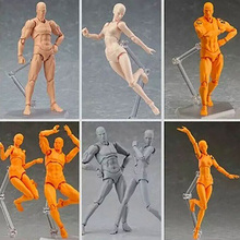 6 Kinds Sketch Action Figures,13CM Figure Collectible Toys,Male/Female Moveable Action Figure Collectible Brinquedos Model