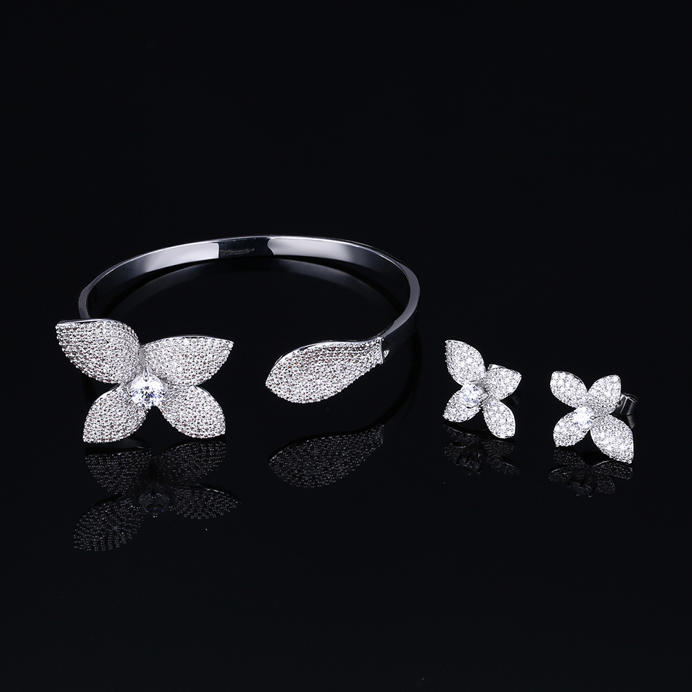 flower jewelry sets for Bridesmaid (8)