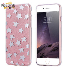 KISSCASE Stars Pattern Case For iPhone 6 6s Plating Cute Phone Cover For iPhone 6 Plus 6s Plus Ultra Slim For iPhone 6 6s Shells